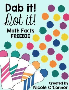 Dab it! Dot it! Math Facts FREEBIE!