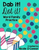 Dab it, Dot it Word Family Practice