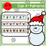 Dab it! Patterns (Christmas edition) + editable template