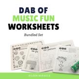 Music Dabbing Worksheets {Bundled Set}