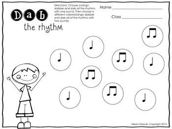 Dab of Music Fun {No Prep Printable Freebie}