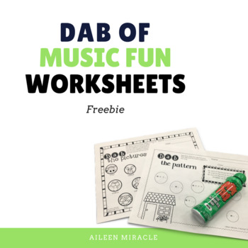 Dab of Music Fun {No Prep Printable Freebie}