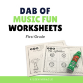 Music Dabbing Worksheets {1st Grade}