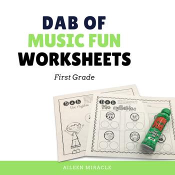 Music Dabbing Worksheets {1st Grade}