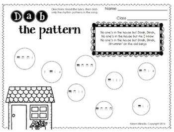 Music Dabbing Worksheets {2nd Grade}