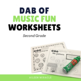 Music Dabbing Worksheets {2nd Grade}