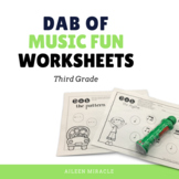 Music Dabbing Worksheets {3rd Grade}