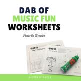 Music Dabbing Worksheets {4th Grade}