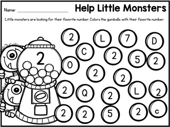 Number Recognition 1-10 Worksheets: Number Search Find and ...