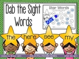 Dab the Sight Words: Dolch Pre-Primer Sight Words