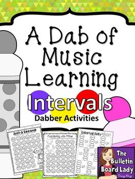 Dabber Activities for Music Class:  Intervals