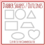 Dabber Shapes made from Circles - Shapes for Bingo Dabbers Clip Art Set