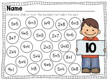 Dabbing Addition- Bingo Dauber Activity