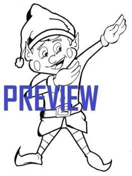 Santa on Sleigh with Elf Coloring Page - ColoringAll | 350x292