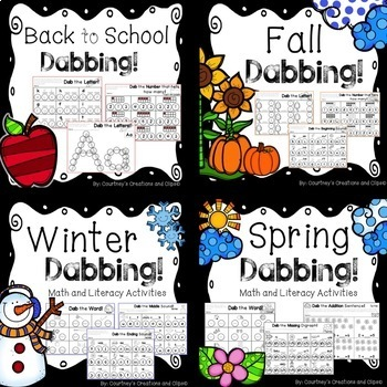 Dabbing Math and Literacy Activities BUNDLE