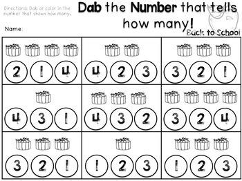 Dabbing Math and Literacy Activities {Kindergarten} BUNDLE