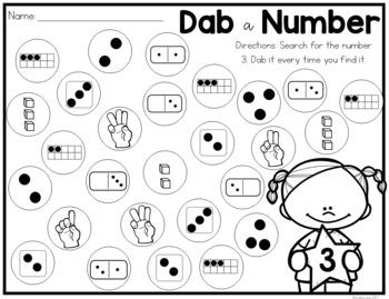 Dabbing Through Number Sense