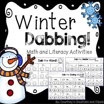 Dabbing Winter Math and Literacy Activities - Centers