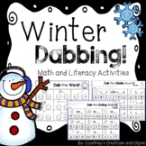 Winter Dabbing Math and Literacy Activities - Centers