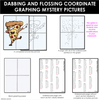 Dabbing and Flossing - Coordinate Graphing Mystery Pictures