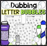 Dabbing the Alphabet with Bubbles- Kindergarten or Pre-School