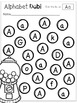 Dabbing the Alphabet with Gum Balls Kindergarten