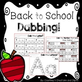 Dabbing the Beginning of School- Kindergarten- Math and Li