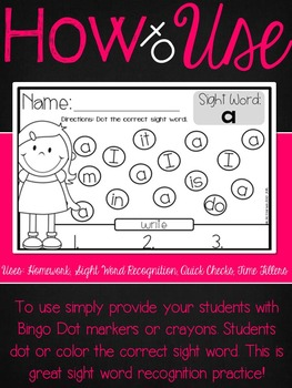 Dabbling With Sight Words {Easy No Prep Activity}