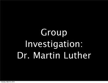 Dabbling with Group Investigation