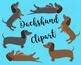 Dachshund Clipart, Dachshund Clip art, Dog Clipart, Puppy Clipart, Cute Dogs