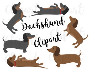 Dachshund Clipart Dachshund Clip Art Dog Clipart Puppy Clipart Cute Dogs