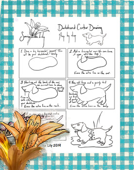 Dachshund Contour Drawing Step by Step