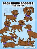 Dachshund Doggies clip art set