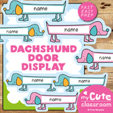 Dachshund Door Decorations - Editable Student Names