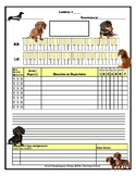 Dachshund Themed Piano Lesson Assignment Sheet