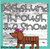 Dachshund Through the Snow Winter Bulletin Board