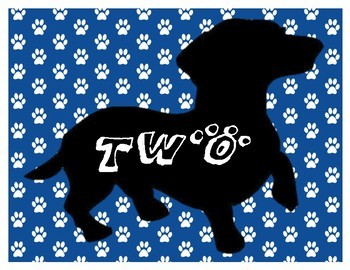Dachshund (Wiener Dog) Table/Pod Numbers Signs