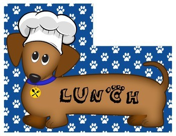 Dachshund (Wiener Dog) Themed Lunch Count