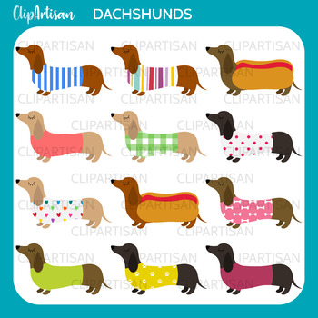 Dachshunds Clip Art, Sausage Dogs, Weiner Dogs