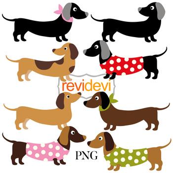 Dachshunds Dogs Clip Art