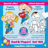 Dad Clipart Bundle, Color, black & white, Father's day, Día del Padre Set 169
