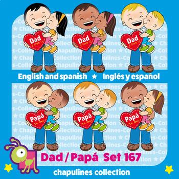 Dad Clipart, Father's day, Papá, Día del Padre Set 167