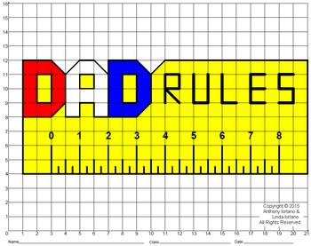 Dad Rules Mystery Picture (Big Grid)
