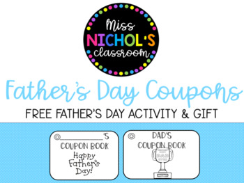 Dad's Coupon Book/Father's Day Gift
