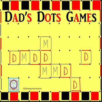 Dads/Fathers Day Dots Games/Card
