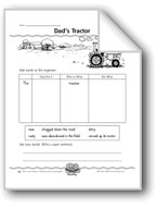 Dad's Tractor (super sentences)
