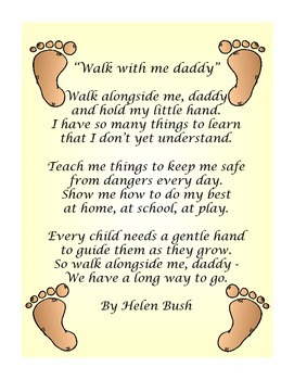 graphic relating to Walk With Me Daddy Poem Printable identified as Daddy Poems by means of Practice Minimal Types Instructors Pay out Instructors