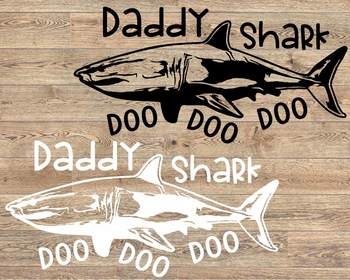 Daddy Shark SVG Dad Shirt Father's Day Doo Best Birthday Papa husband 1221s