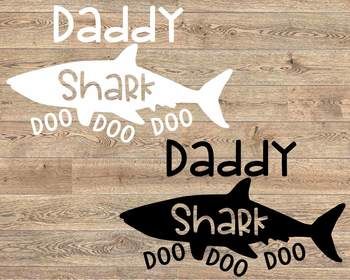 Daddy Shark SVG Dad Shirt Father's Day Doo Best Birthday Papa husband 1222s
