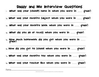 Daddy and Me Common Core ELA Project